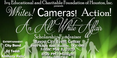 Whites! Cameras! Action!  An All White Affair