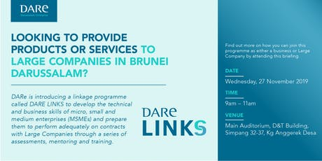 Introduction of DARe Links Programme tickets