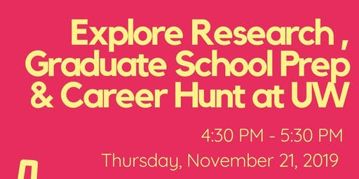 Explore Research, Graduate School Prep & Career Hunt at UW