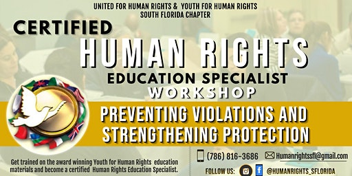 Become a Certified Human Rights Education Specialist -  Workshop