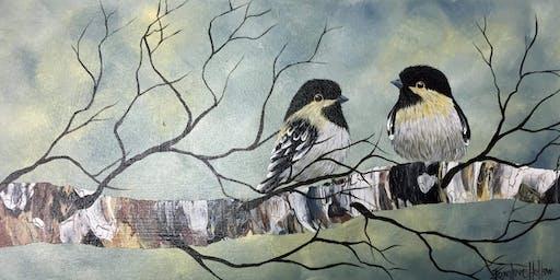 Paint with Me Chickadee