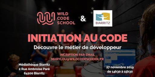 INITIATION AU CODE & DÉCOUVERTE DU MÉTIER DE DÉVELOPPEUR