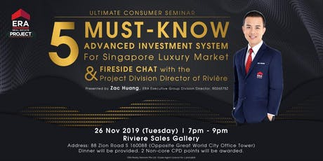 [UCS] 5 MUST-KNOW Investment System For SG Luxury Market & Fireside Chat tickets