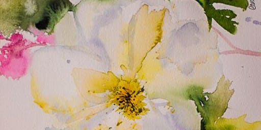 Spring Flowers in Ink and Watercolour Day Workshop
