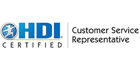 HDI Customer Service Representative 2 Days Virtual Live Training in Vancouver tickets