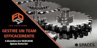Gestire un team efficacemente