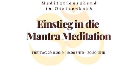 Einstieg in die Mantra Meditation Tickets