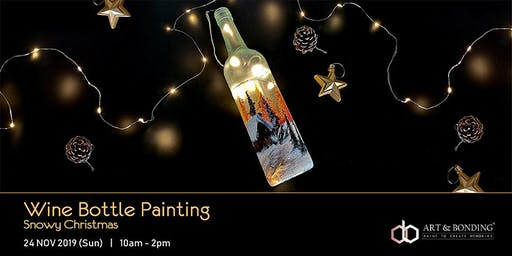 Christmas Workshop : Wine Bottle Painting - Snowy Christmas