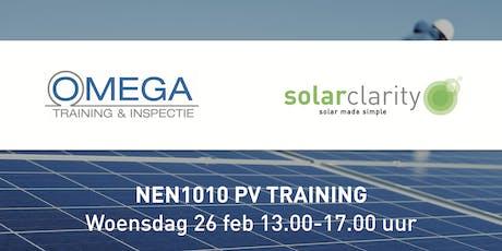NEN1010 PV Training  tickets