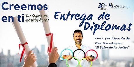 Emprender desde el Deporte con Chuso García Bragado. Entrega Diplomas eSemp entradas