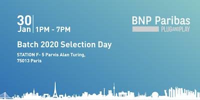 BNP Paribas -  Plug and Play Batch 2020 Selection Day