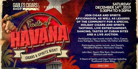 Taste of Havana Cigar and Spirits Night tickets