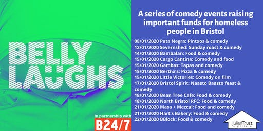 Belly Laughs with Bristol24/7 at  North Bristol RFC: Food and Comedy