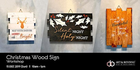 Christmas Workshop : Christmas Wood Sign tickets
