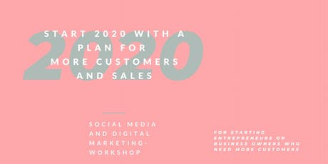 Start 2020 with a plan: Social media and digital marketing workshop tickets