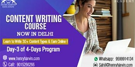 Day 3 Content Writing Certification in Delhi tickets