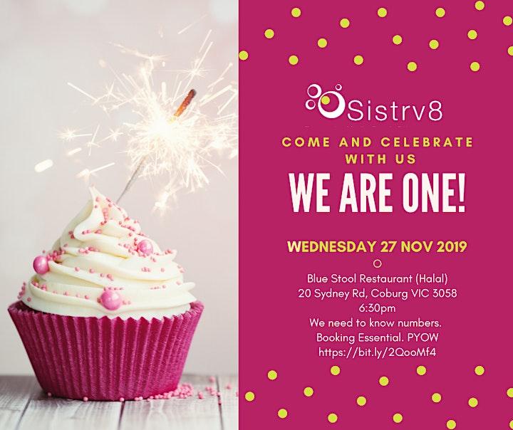 Celebrate with Sistrv8 image