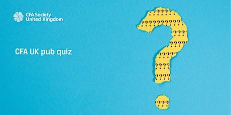 CFA UK Pub Quiz tickets