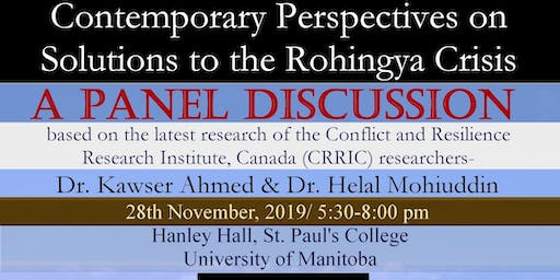PANEL DISCUSSION: Contemporary Perspectives on Solutions to Rohingya Crisis