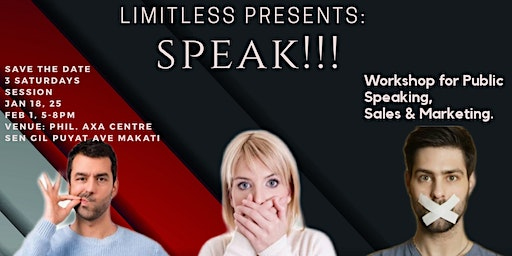 Speak!! Workshop For Public speaking, Sales & Mark