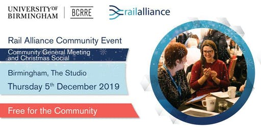 Rail Alliance: End of Year Rail Alliance Community Meeting and Networking