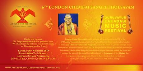 6th London Chembai Sangeetholsavam by London Hindu Aikyavedi tickets