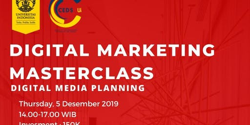 Digital Marketing Masterclass: Brand & Media Planning