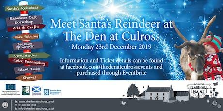 Meet Santa's Reindeer at The Den at Culross tickets