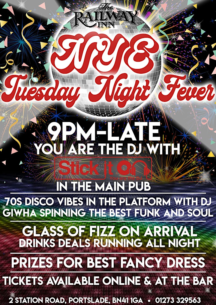 Tuesday Night Fever New Years Eve Party at The Railway Inn image