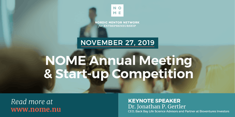 NOME Annual Meeting & Startup Competition 2019 tickets
