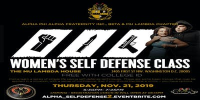 Alpha Self-defense for College Women