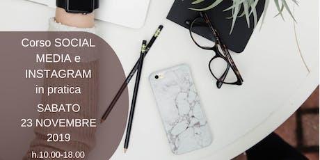 Corso Facebook e Instagram per imprese-blogger-artigiani biglietti