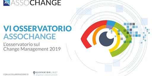 Convegno di presentazione dei risultati dell'Osservatorio 2019 e Premi Assochange 4 dicembre 2019 mattina