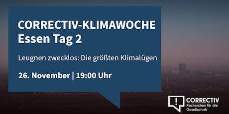 Die größten Klimalügen - CORRECTIV-Klimawoche in Essen Tag 2 Tickets