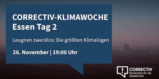 Die größten Klimalügen - CORRECTIV-Klimawoche in Essen Tag 2