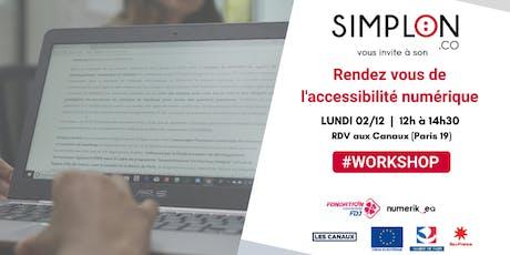 Le rendez vous de l'accessibilité numérique : déjeuner & workshop billets