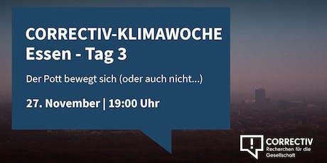 Der Pott bewegt sich (nicht...) - CORRECTIV-Klimawoche in Essen Tag 3 Tickets