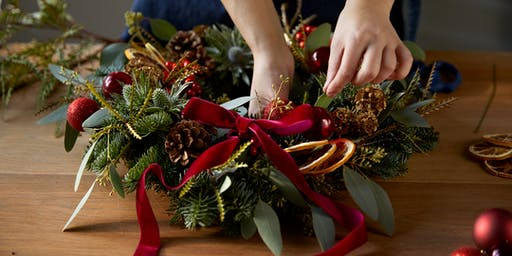 BLOOM & WILD WREATH MAKING AT JOHN LEWIS & PARTNERS CHESTER - 07 DEC AM