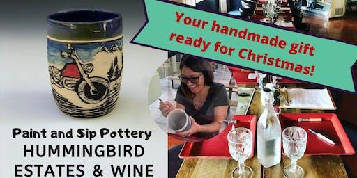 Paint & Sip Pottery at Hummingbird Estate & Wine!