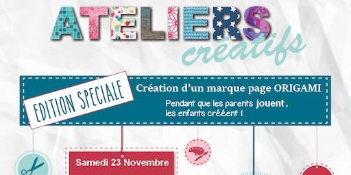 Atelier créatif - Marque page ORIGAMI
