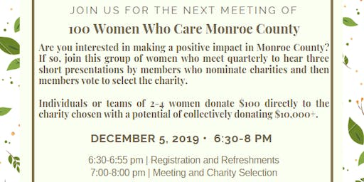 100 Women Who Care Monroe County