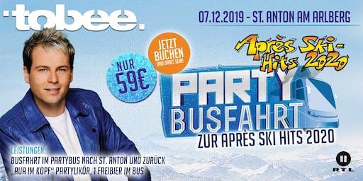 """Tobee's Partybusfahrt zur RTL2-Aufzeichnung """"Après-Ski-Hits 2020"""" & Silvestershow"""