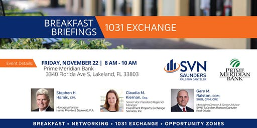 Breakfast Briefings : 1031 Exchanges