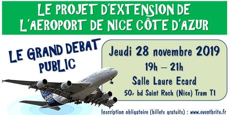 Grand Débat Public : l'extension de l'aéroport billets