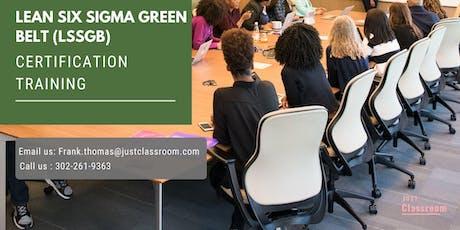 Lean Six Sigma Green Belt (LSSGB) Classroom Training in West Nipissing, ON tickets