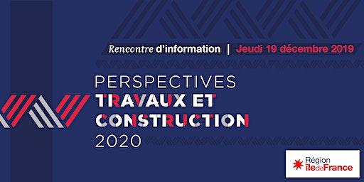 Réunion d'information Perspectives Travaux et Constructions