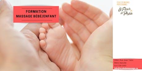 Formation massage bébé/enfant (22h30) billets