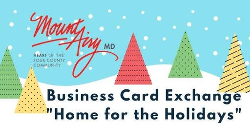"December Business Card Exchange ""Home for the Holidays"""