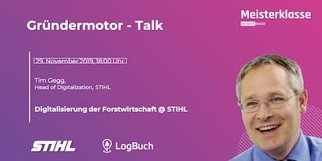 Gründermotor - Talk mit Tim Gegg Tickets