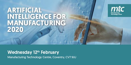 Artificial Intelligence for Manufacturing 2020 tickets